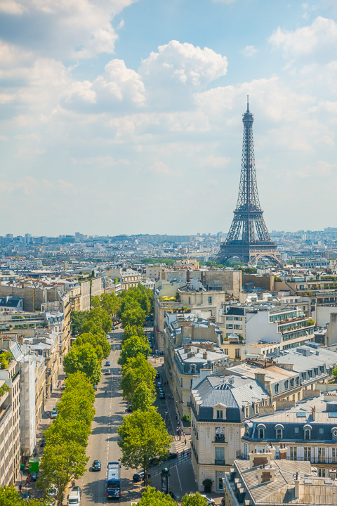 View of the Eiffel Tower from the Arc de Triomphe — The BEST Things To Do In Paris If You Only Have One Day!!