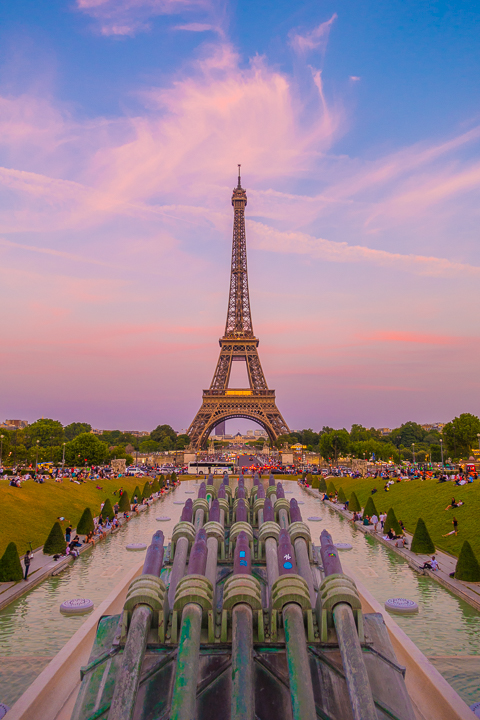 Sunset at the Eiffel Tower and view from the Trocadero — The BEST Things To Do In Paris If You Only Have One Day!!