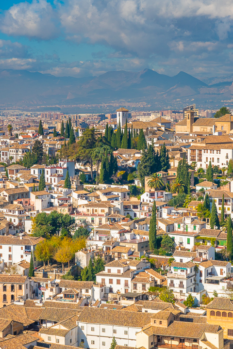 View from the Alhambra in Granada Spain