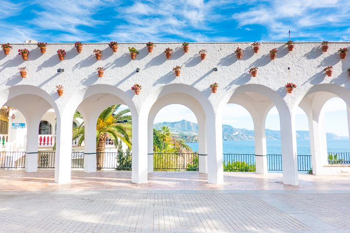 White Arches on Balcón de Europa in Nerja Spain