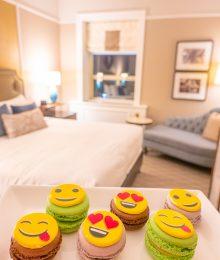 Emoji Macarons at Chateau Frontenac Quebec City