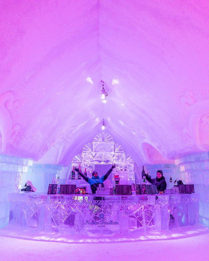 Ice Bar at Ice Hotel Quebec