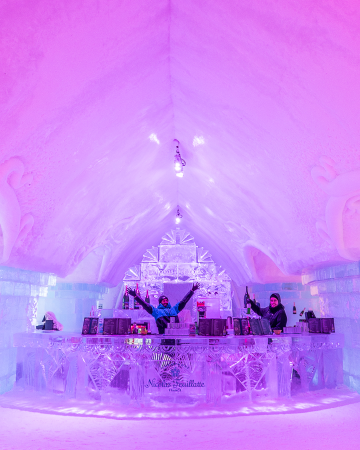 Ice Bar at Ice Hotel Quebec