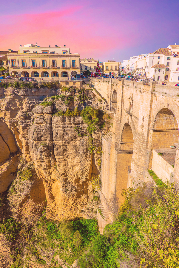 Ronda Spain at sunset