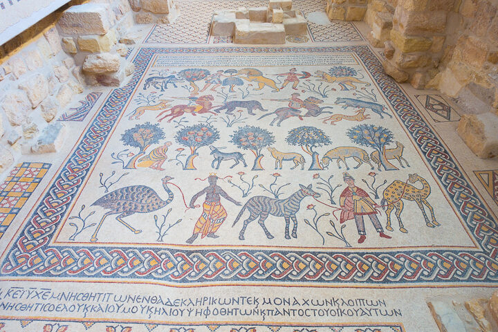 Mosaic in church at Mount Nebo