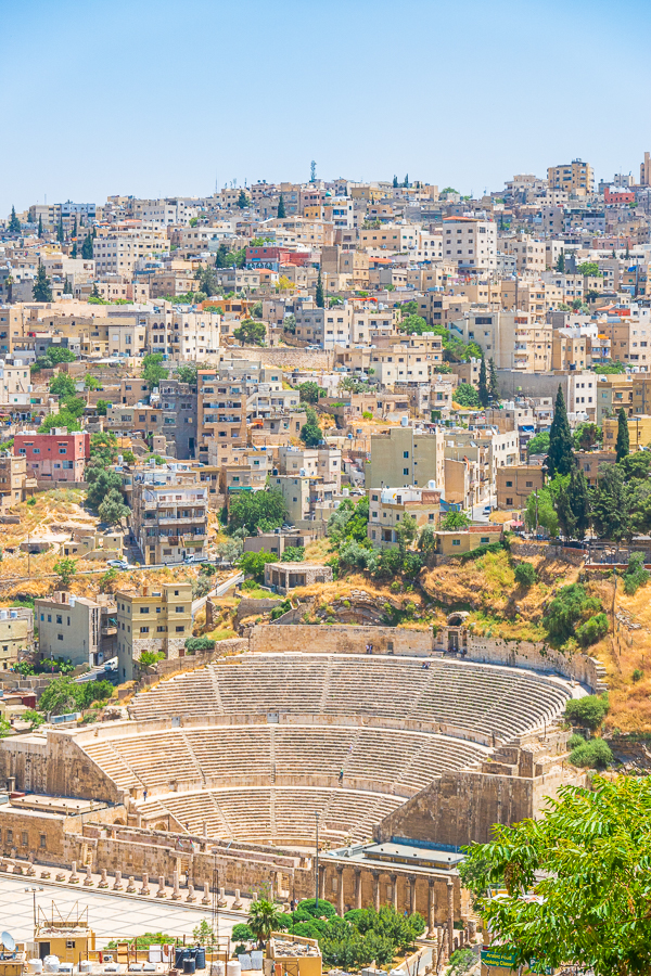 View of Roman Theatre from Amman Citadel
