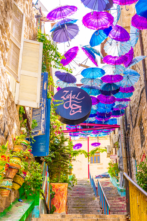 Umbrella Street in Amman Jordan