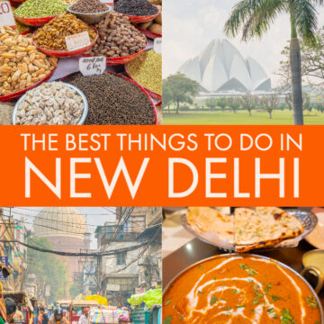 Pinterest image for New Delhi Travel Guide — Best Things To Do in the Capital of India