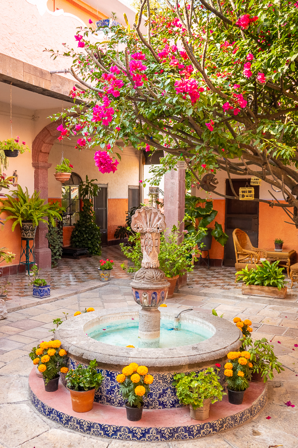 Courtyard in San Miguel de Allende