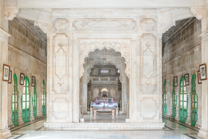 View of the inside of Jaswant Thada in Jodhpur, India