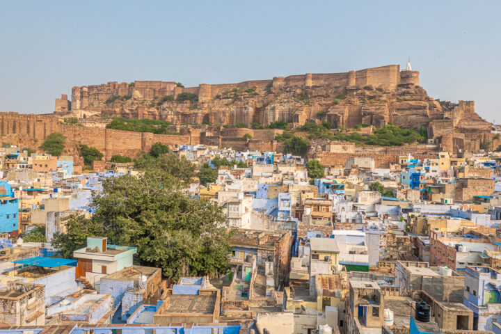 View of the blue city of Jodhpur