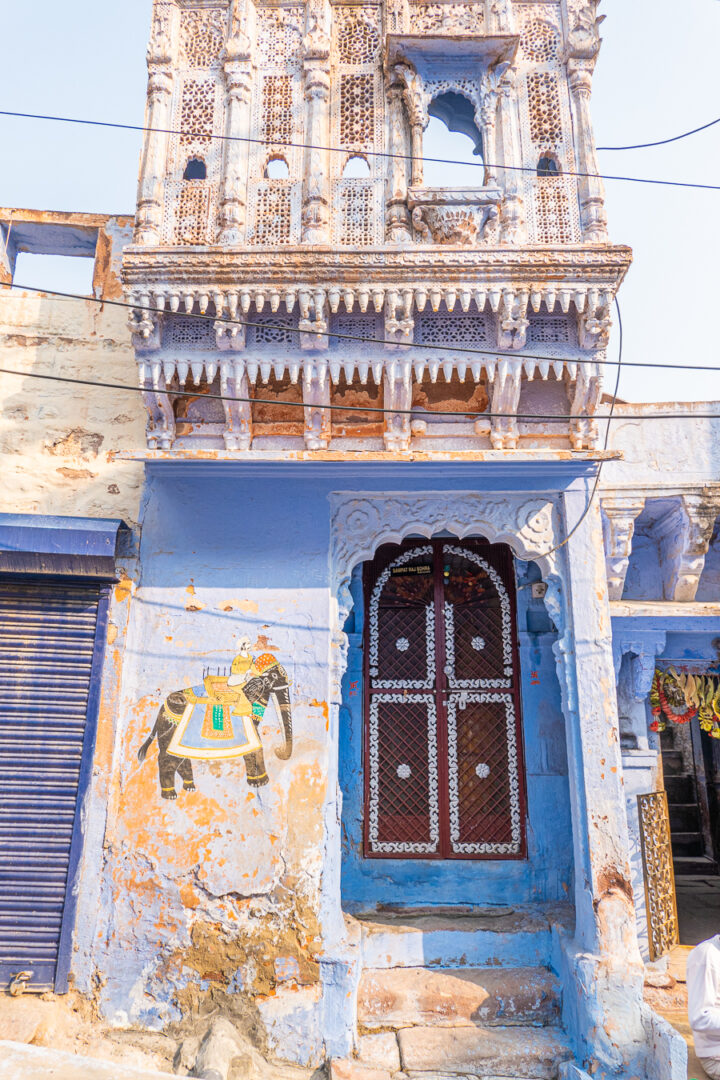 Photo of a blue home in Jodhpur India