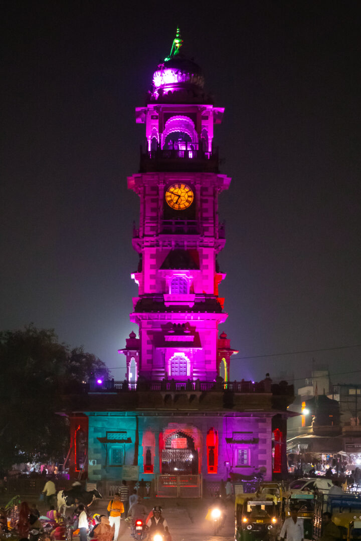 Clock tower in Jodhpur India