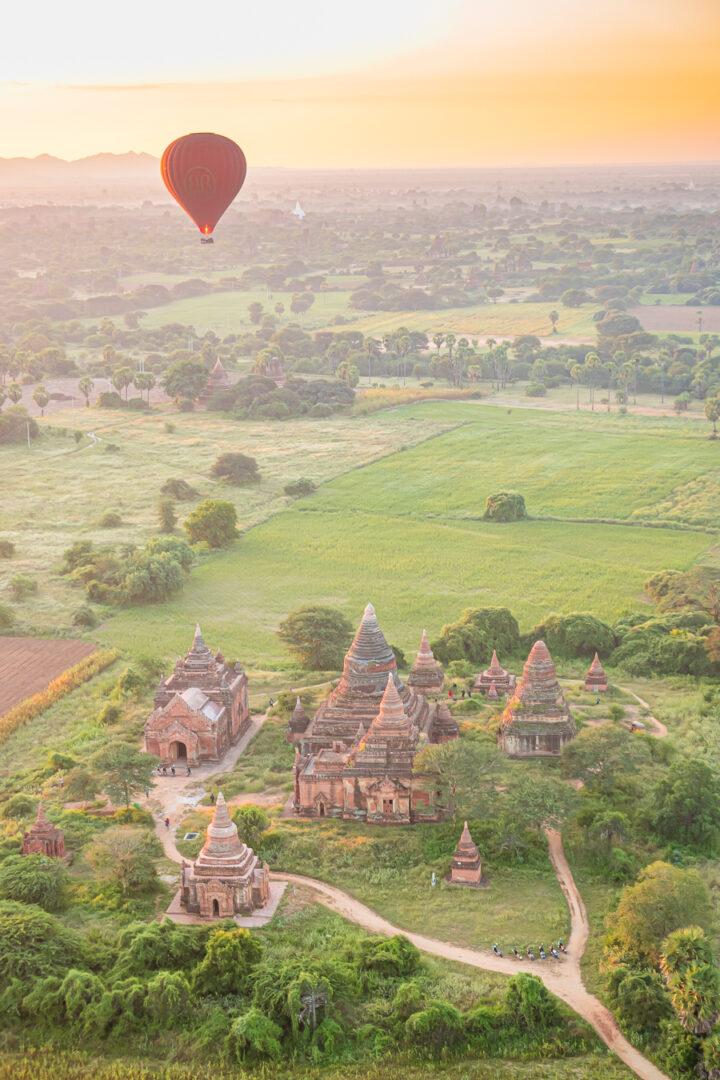 Sunrise Hot Air Balloon Ride in Bagan Myanmar