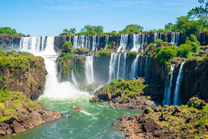 View of Iguazu Falls from Argentina.