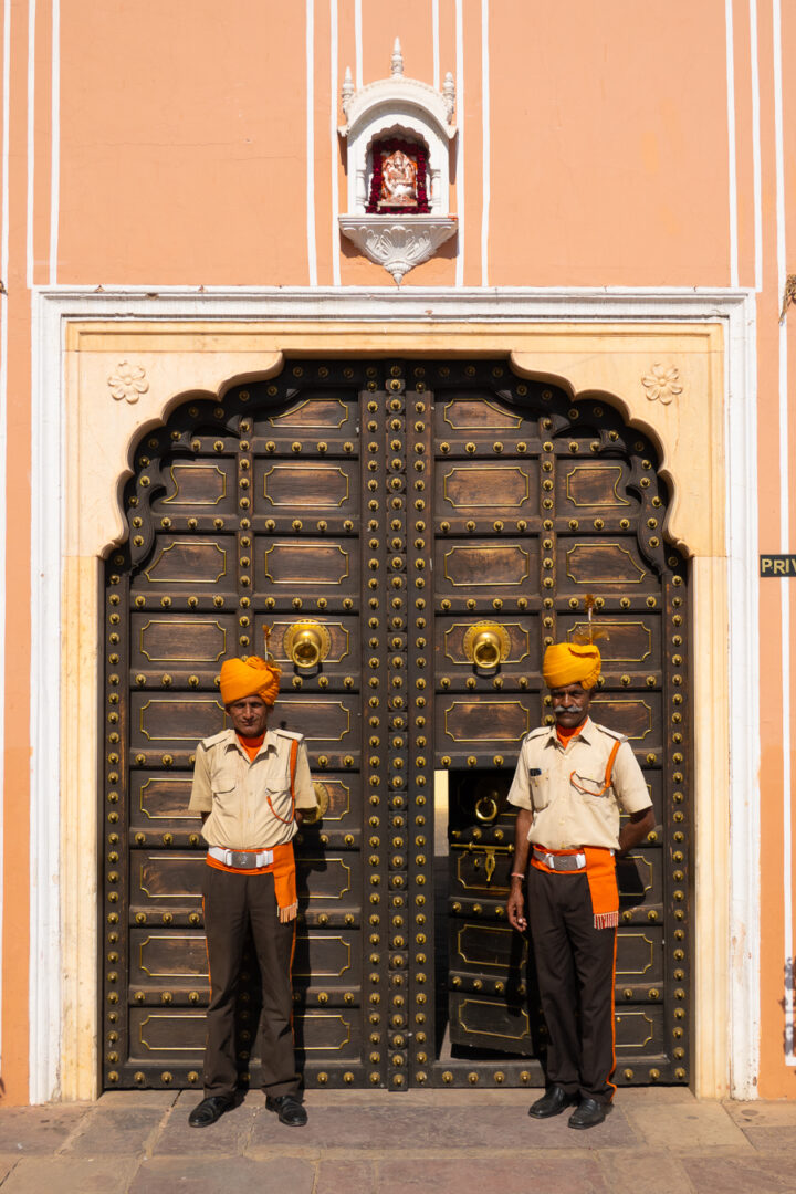 Guards in front of the Secret Rooms at City Palace