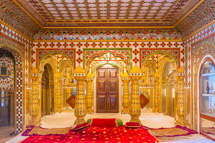 The Hall of Beauty at the Secret Rooms in City Palace