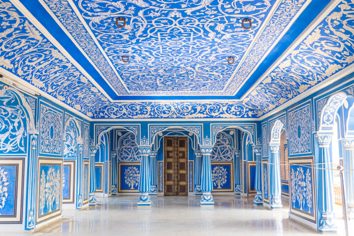 The Blue Room at the Secret Rooms in City Palace
