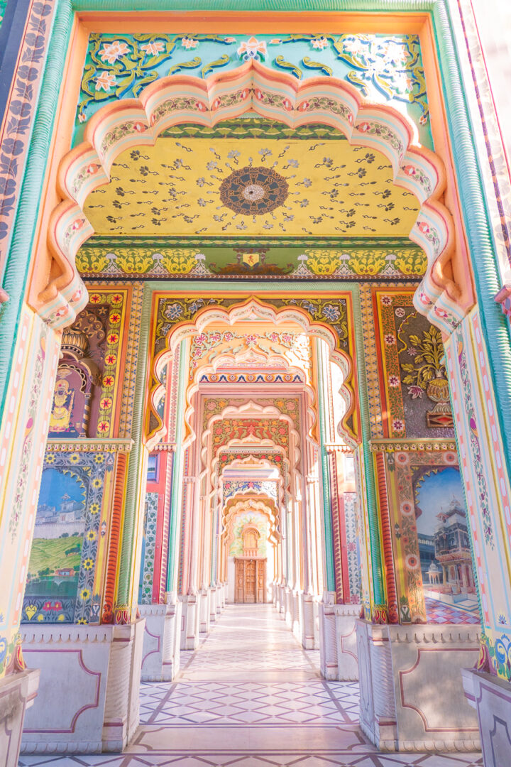 The beautiful and colorful halls of Patrika Gate