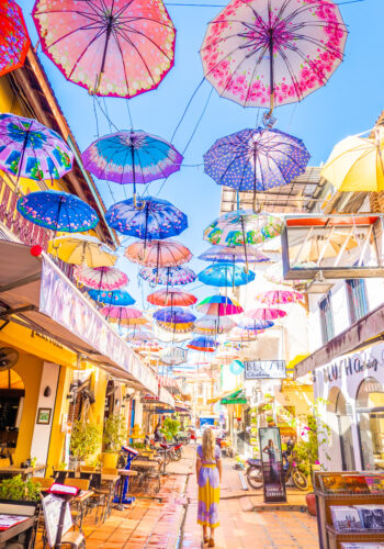 Umbrella Street on Pub Street in Siem Reap, Cambodia