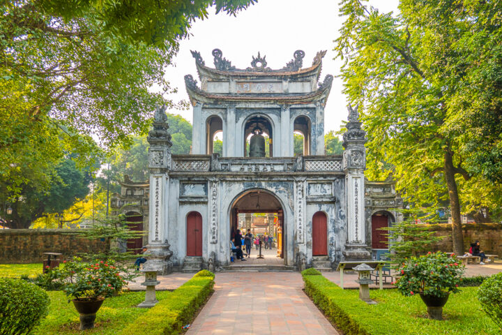 Entrance Gate at Temple Of Literature, Hanoi