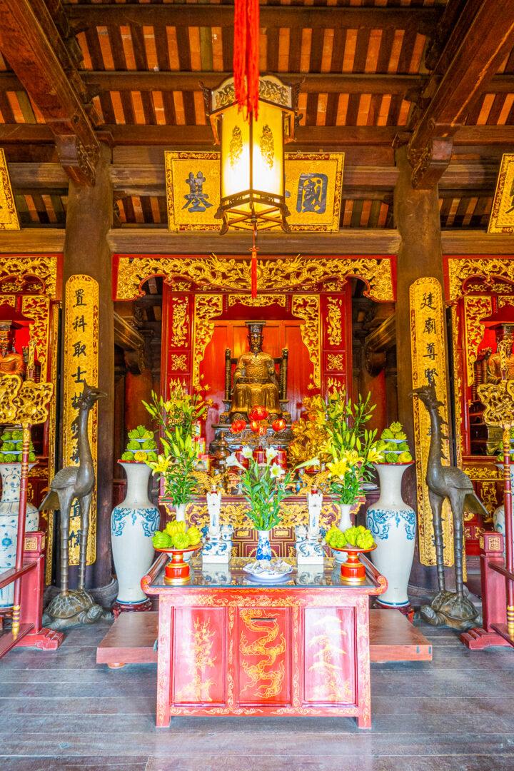 Shrine at Temple Of Literature, Hanoi