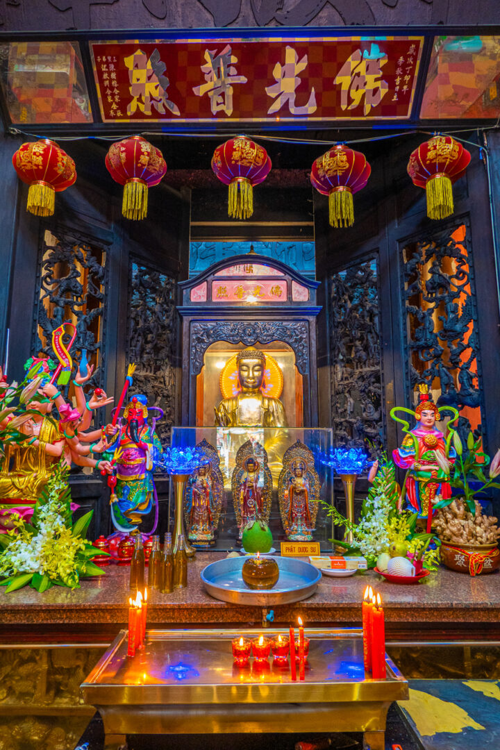 Colorful pagoda in Vietnam
