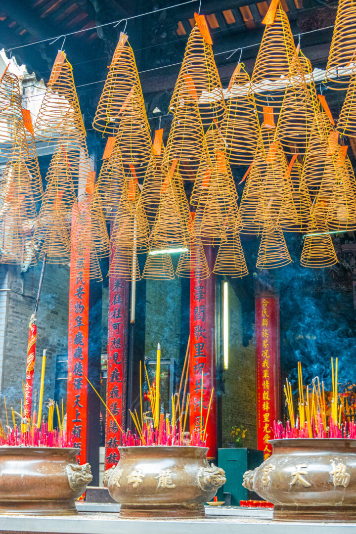 Colorful temple in Vietnam