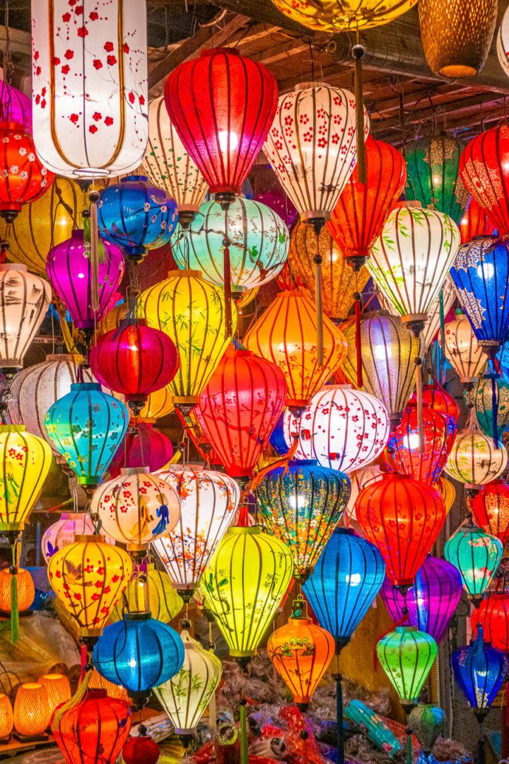Colorful lanterns in Hoi An, Vietnam