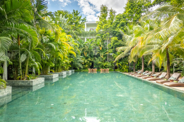 outdoor swimming pool in Cambodia