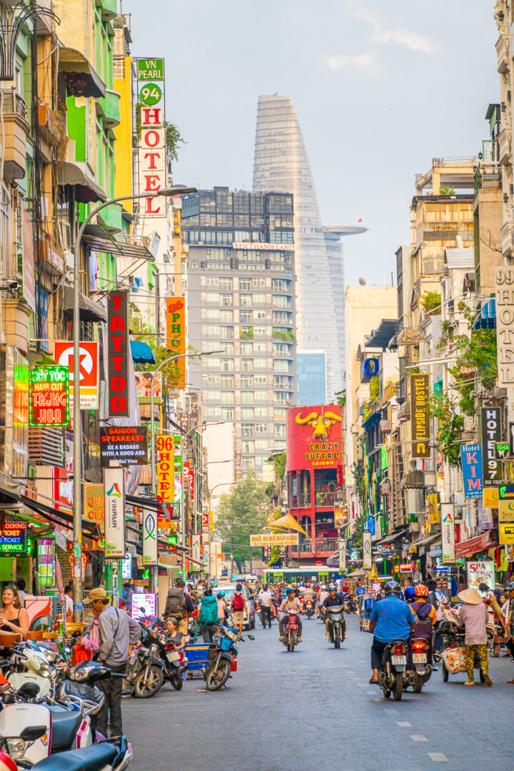 Ho Chi Minh, formerly known as Saigon, is a bustling city that you should absolutely visit while traveling in Vietnam.