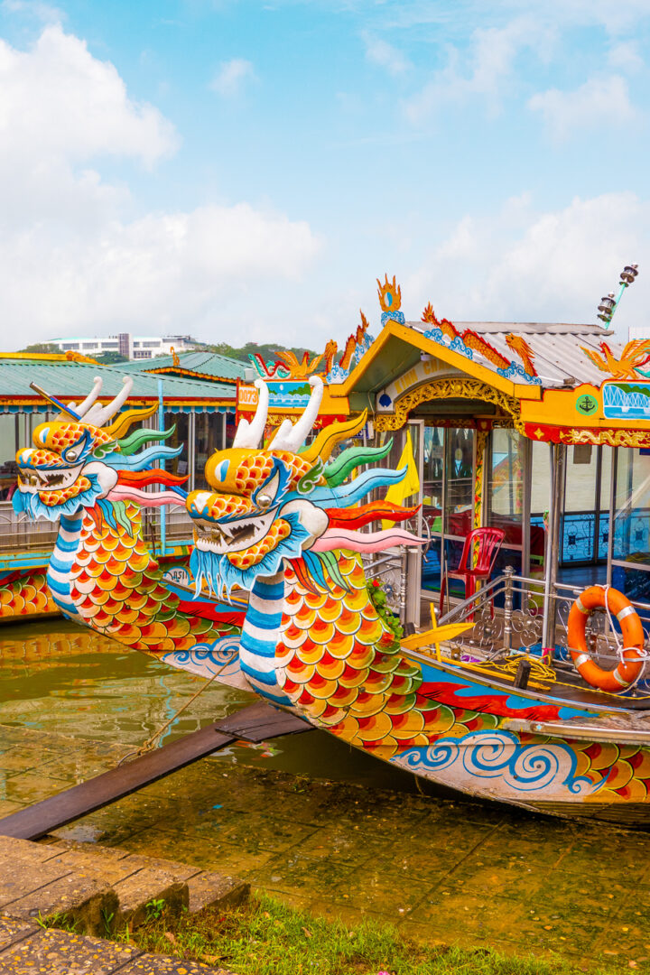 Colorful Dragon Boats on the Perfume River