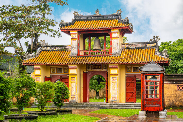 things to do in Hue | visit the yellow and red gates of the imperial city