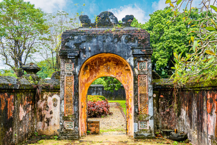 gates of the Imperial City of Hue Vietnam