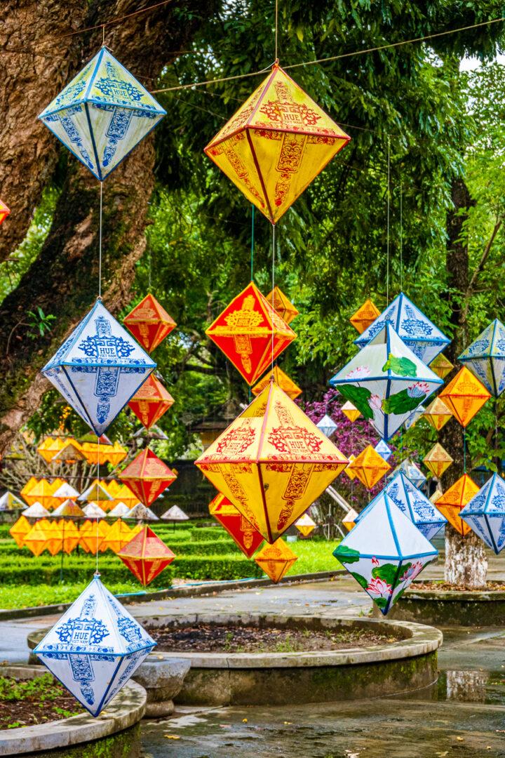 paper lanterns in hue