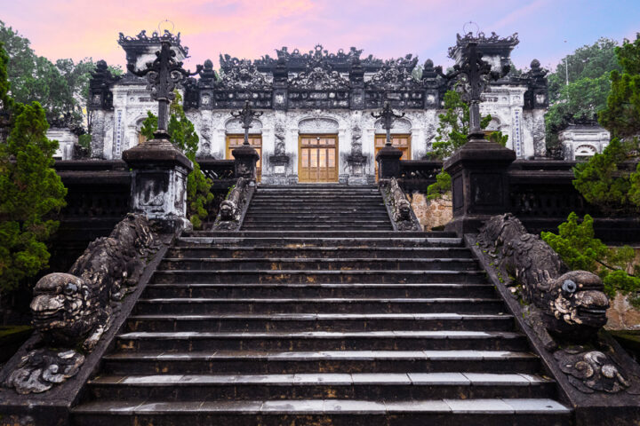 things to do in hue | visit the tomb of emperor khai dinh in hue, vietnam imperial city