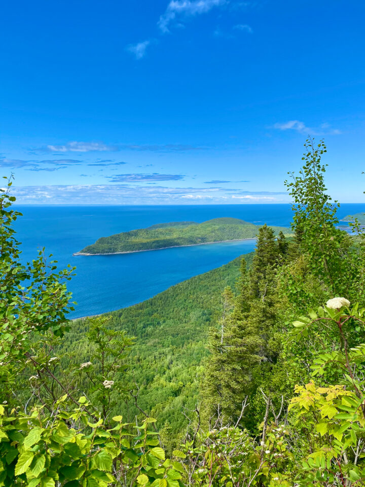 View from Pic Champlain Trail at Bic National Park