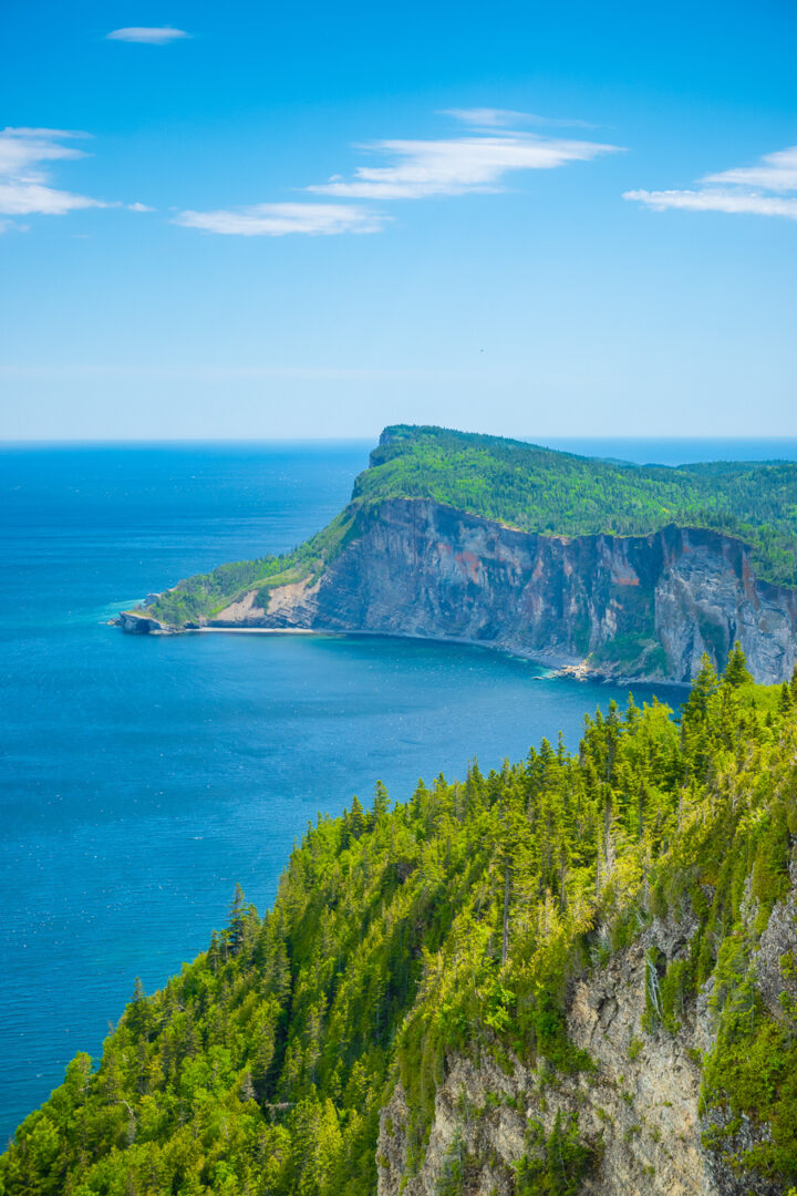 View from observation tower at Summit Mount Alban in Gaspesie