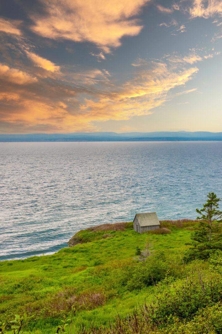 Views of the sea on the Cap Gaspé Hike in Gaspesie