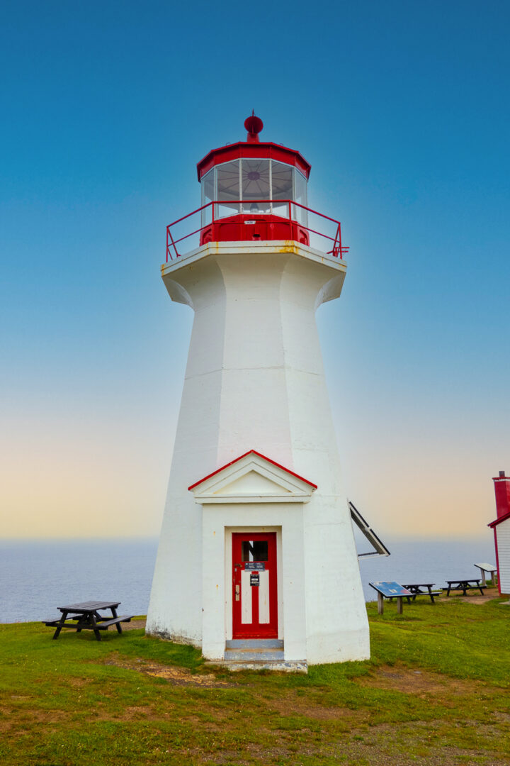Lighthouse on the Cap Gaspe Hike in Forillon National Park