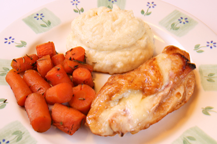 chicken cordon bleu and roasted carrots recipe blog