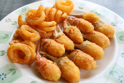 crab claws recipe crab fingers curly fries
